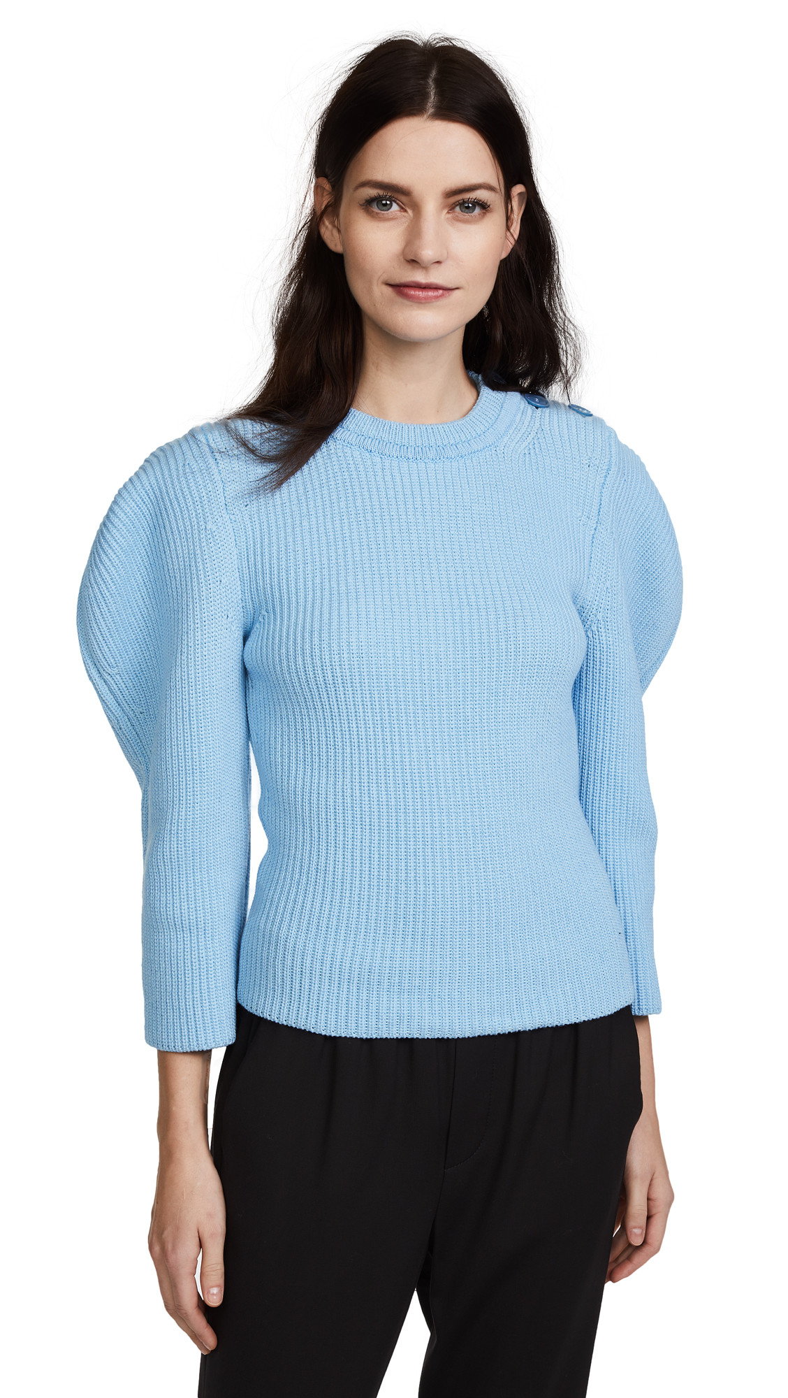 Nina Ricci Shoulder Detail Sweater - Turquoise