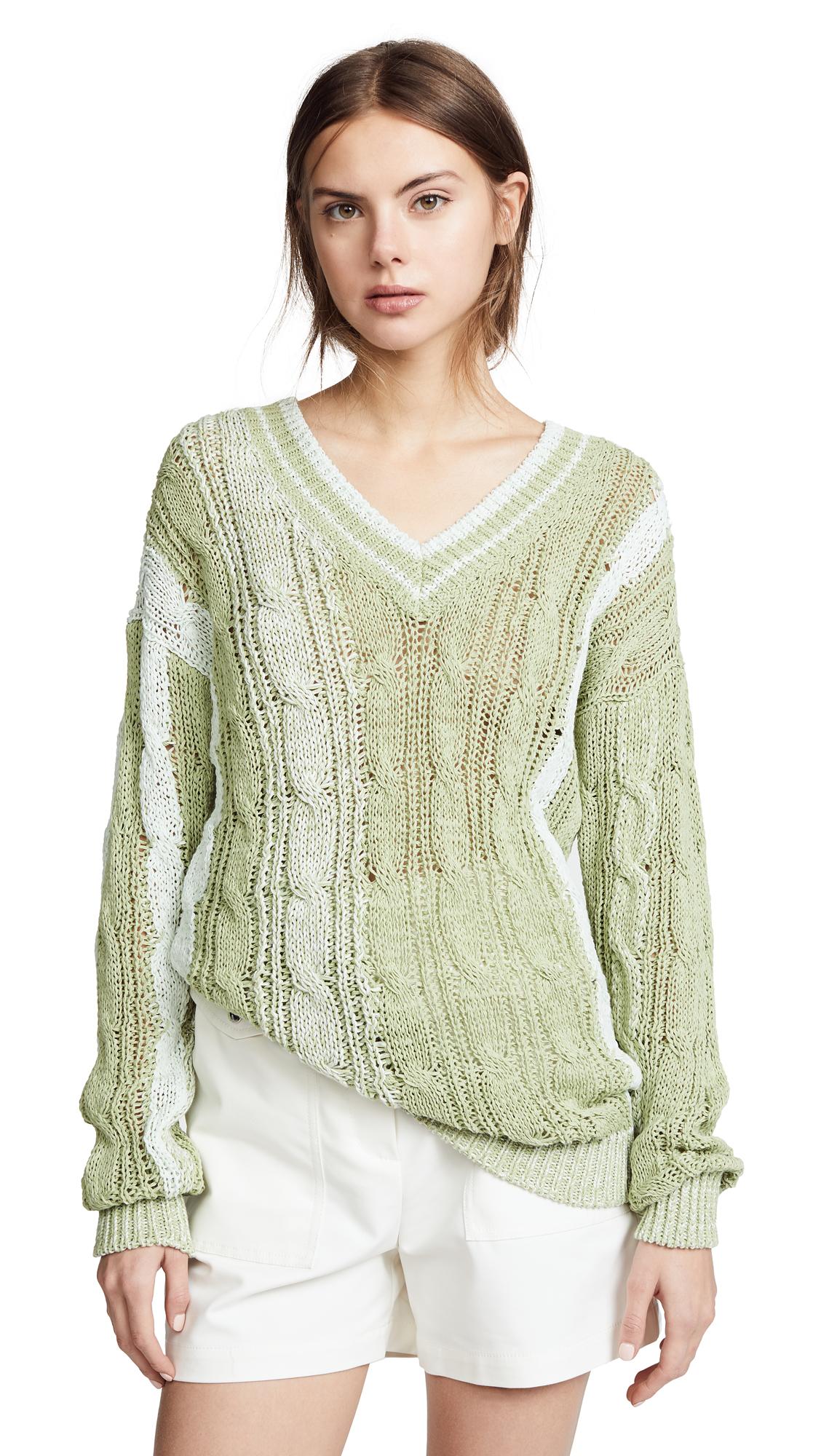 Nina Ricci V Neck Sweater - Green