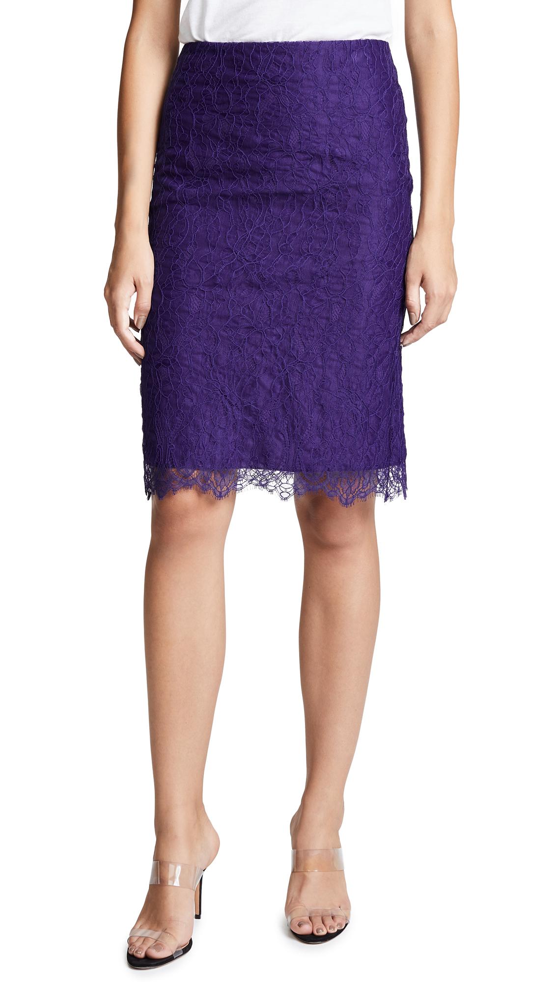 Nina Ricci Lace Mini Skirt - Purple