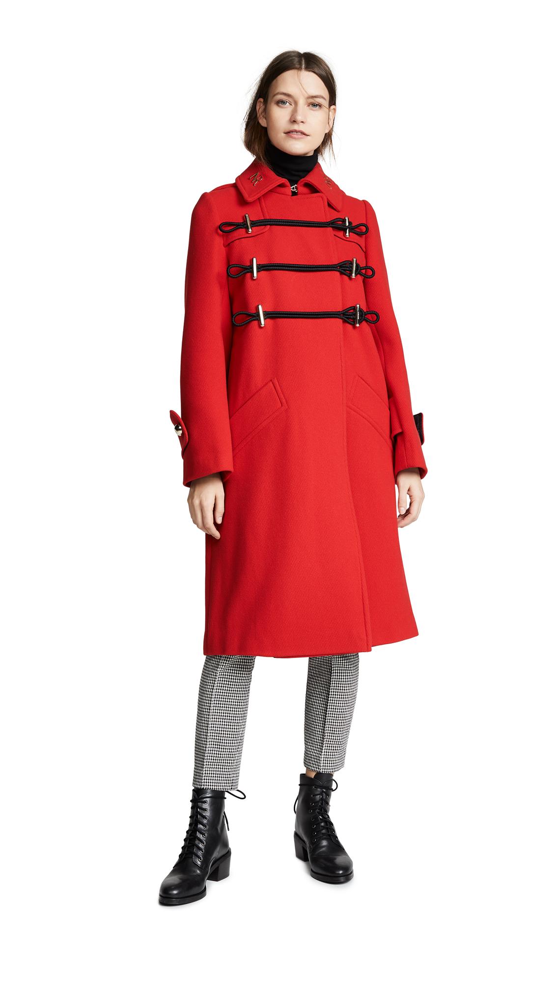Nina Ricci Manteau Long Coat - Red