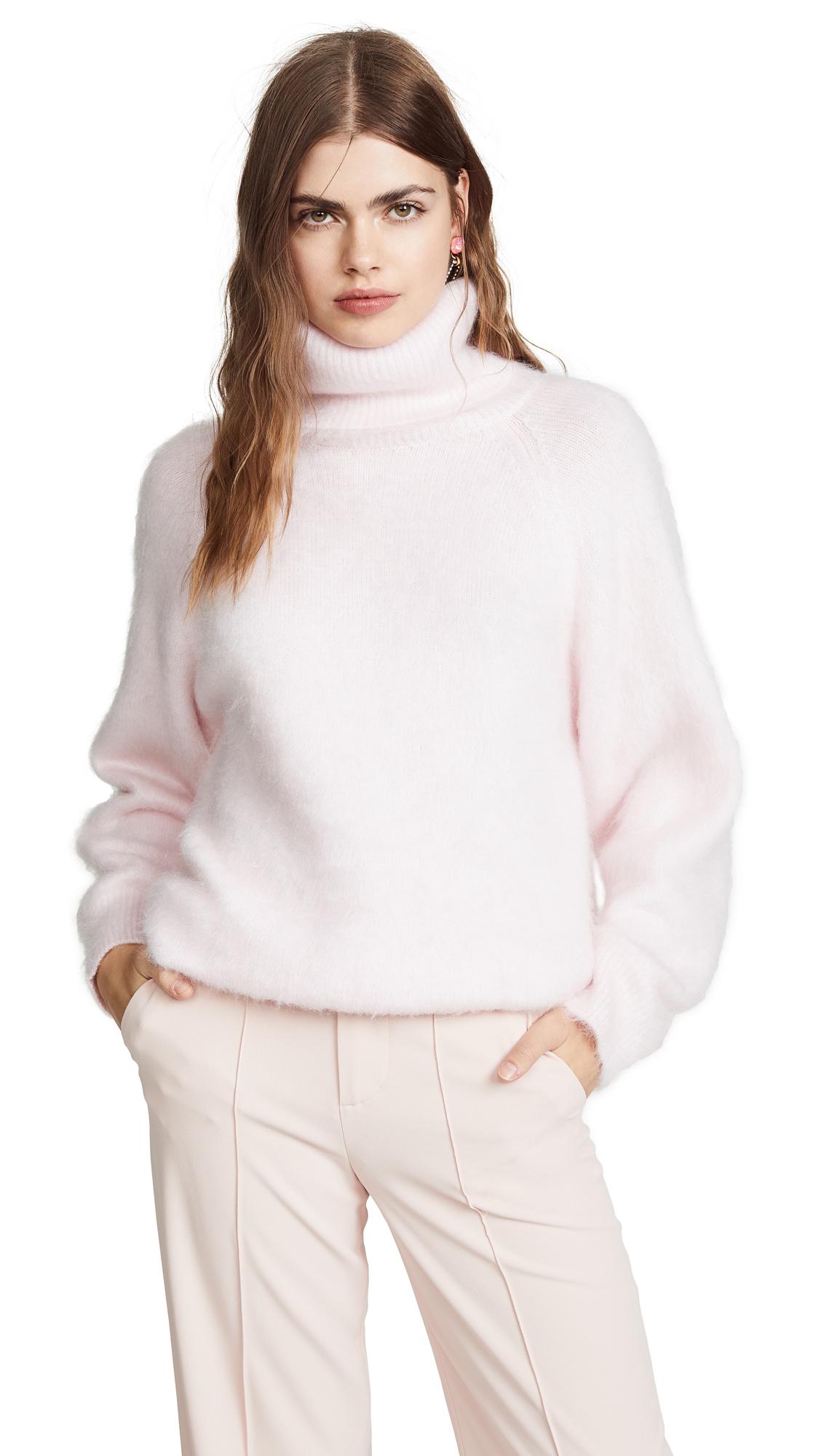 Nina Ricci Mohair Turtleneck Sweater - Pink