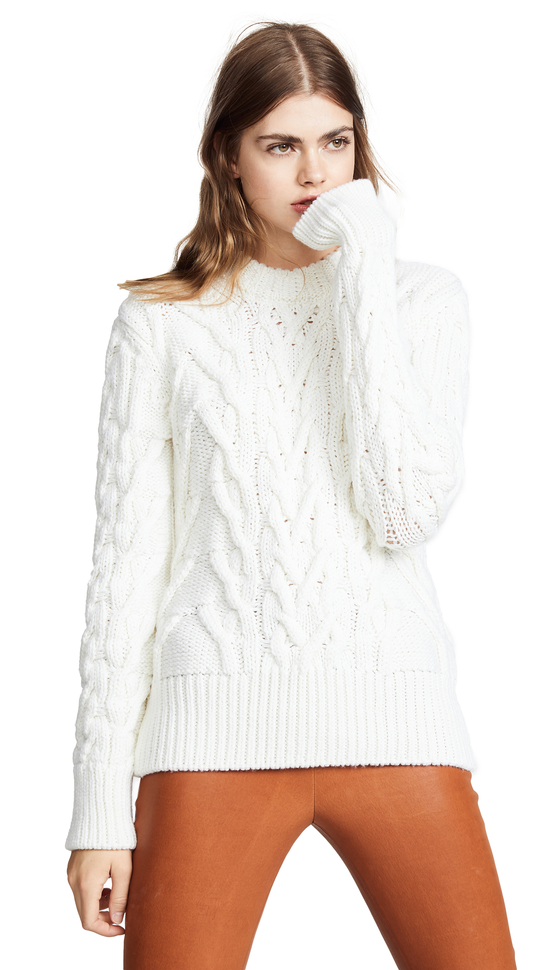 Nina Ricci Cable Knit Sweater - White