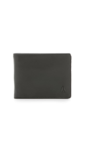 Nixon Escape Leather Wallet with Clip