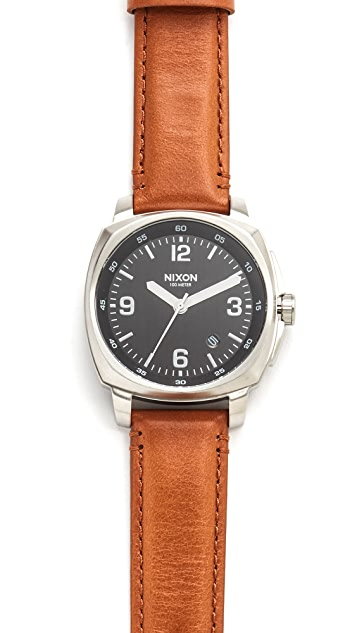 Nixon Charger Leather Watch