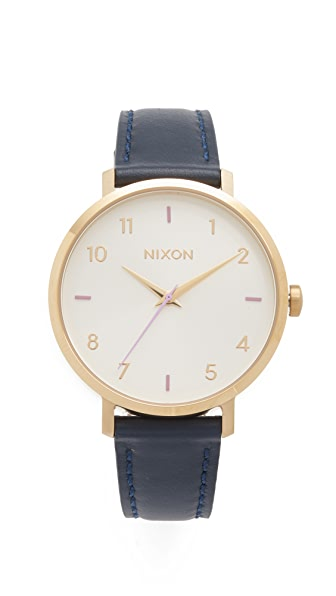 Nixon Arrow Leather Watch at Shopbop