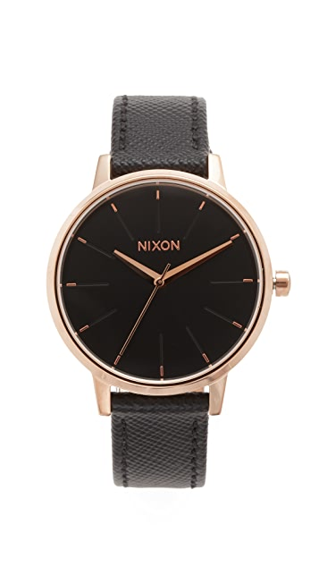 Nixon Lux Life Kensington Leather Watch