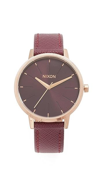 Nixon Lux Life Kensington Leather Watch