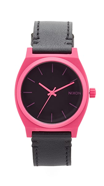 Nixon The Time Teller Watch - Pink/Black