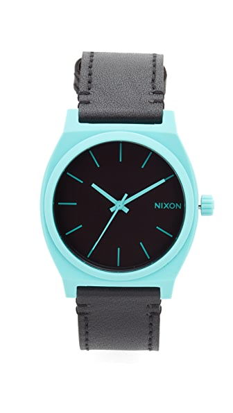 Nixon The Time Teller Watch - Cyan/Black