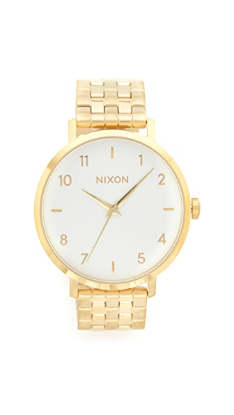 Nixon Arrow Watch - Gold/White