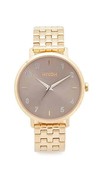 Nixon The Arrow Watch In Gold/Taupe