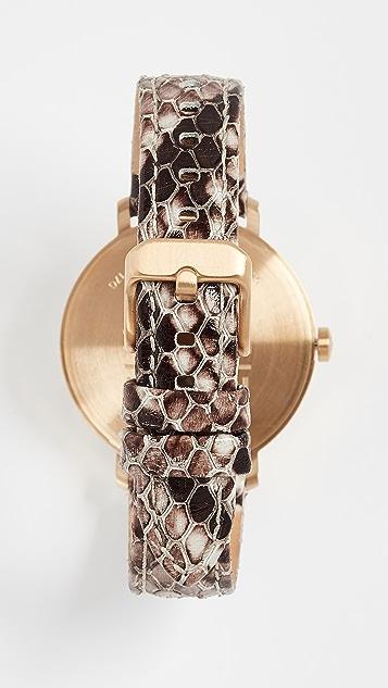 Nixon Arrow Leather Watch, 34mm