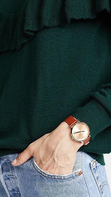 Nixon Kensington Leather Watch Pack, 33mm