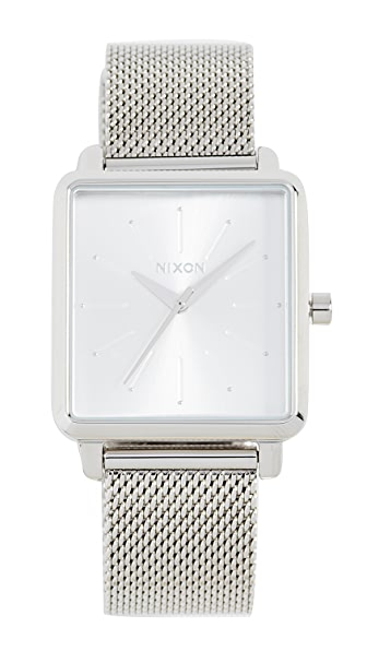 Nixon K Squared Milanese Watch, 30mm In Silver