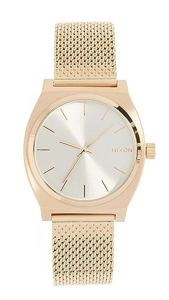 Nixon Time Teller Milanese Watch, 36mm In Gold/Cream