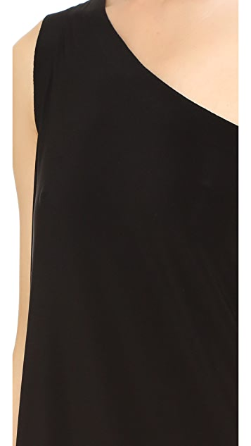 Norma Kamali Kamali Kulture One Shoulder Diagonal Tunic