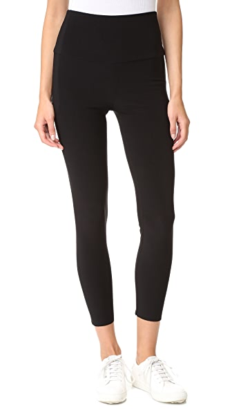 Norma Kamali Crop Leggings In Black