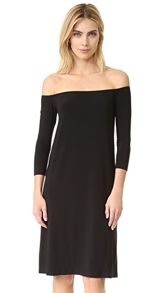 Norma Kamali Kamali Kulture Off Shoulder Dress - Black