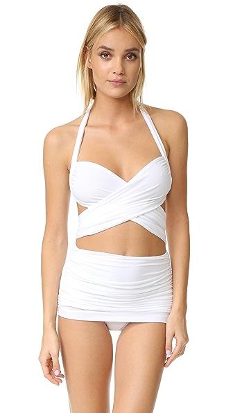 Norma Kamali XO Bill Mio Swimsuit - White