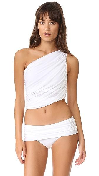 Norma Kamali Diana Halter Bra Bikini Top - White