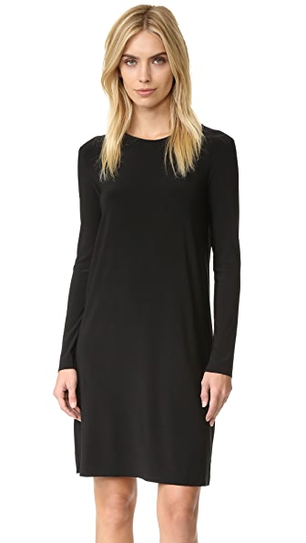 Norma Kamali Kamali Kulture Go Crew Neck Dress - Black