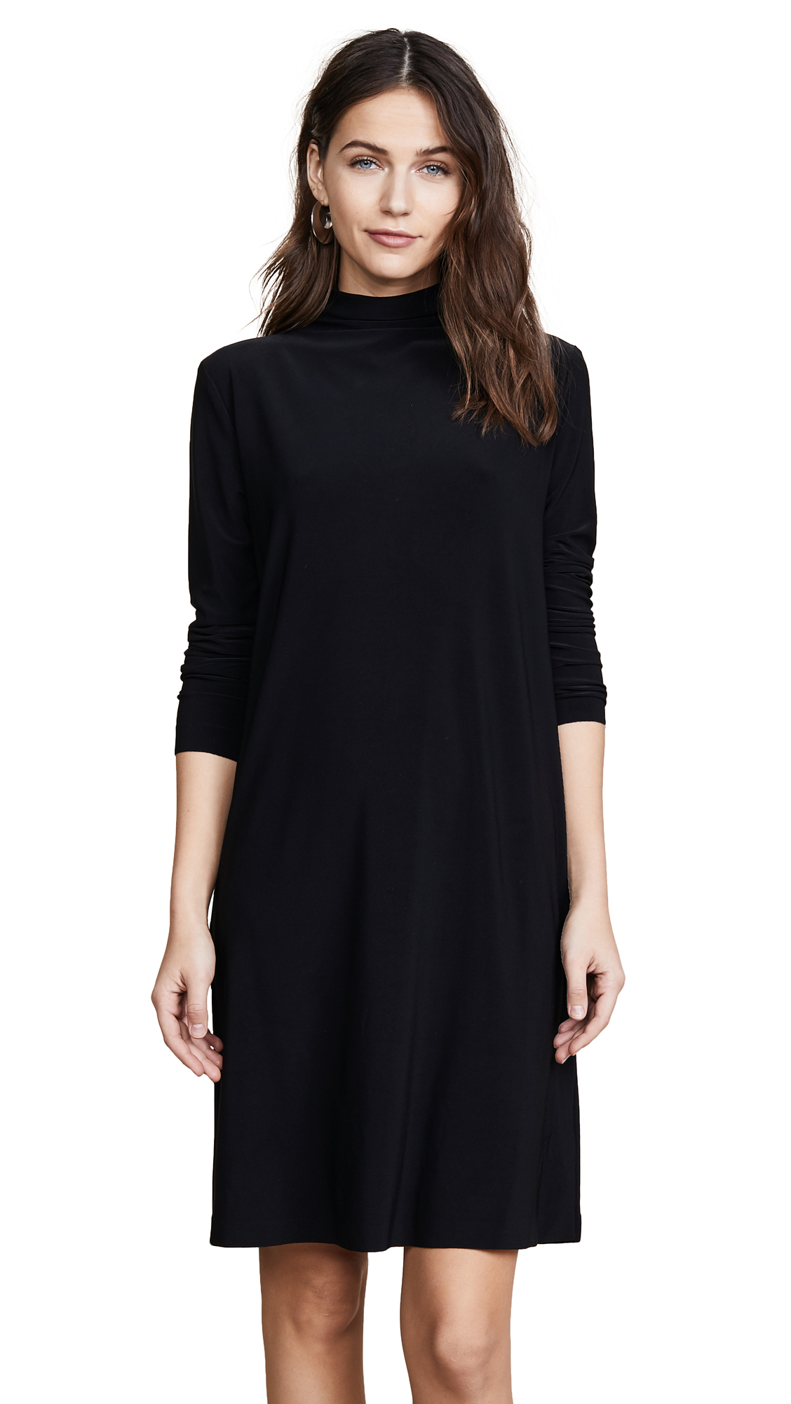Norma Kamali Kamali Kulture Turtleneck Dress In Black