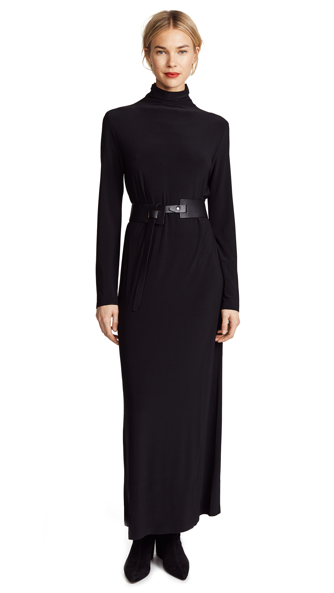 Norma Kamali Kamali Kulture Go Turtleneck Maxi Dress - Black