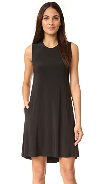 Norma Kamali Kamali Kulture Sleeveless Swing Dress - Black