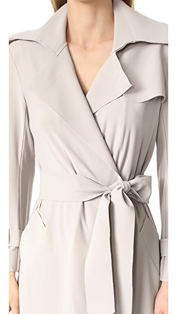 Norma Kamali Double Breasted Trench Wrap Dress