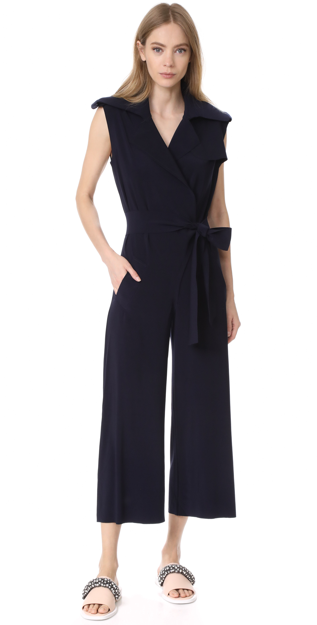 Double Breasted Trench Jumpsuit Norma Kamali