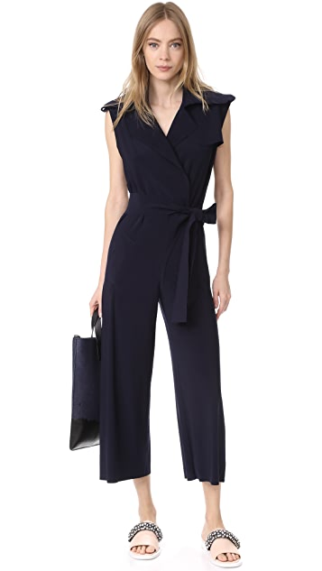 Norma Kamali Double Breasted Trench Jumpsuit