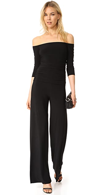 Norma Kamali Off Shoulder Jumpsuit
