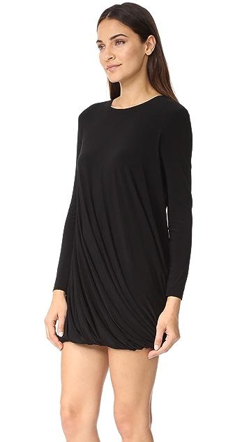 Norma Kamali Long Sleeve Twist Mini Dress
