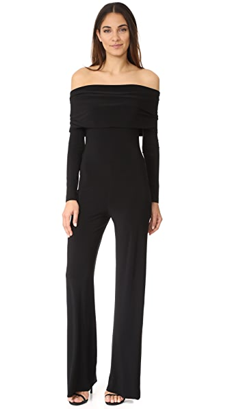 Norma Kamali Cowl Neck Jumpsuit - Black