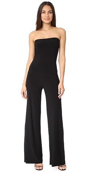 Norma Kamali Strapless Jumpsuit - Black