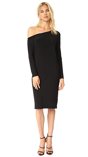 Norma Kamali Drop Shoulder Dress - Black