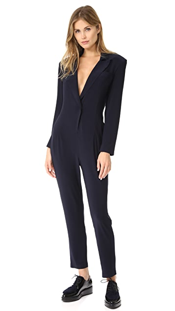 Norma Kamali Single Breasted Jumpsuit