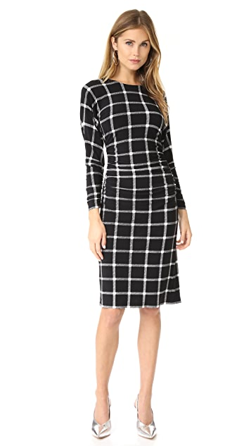 Norma Kamali Dolman Shirred Waist Dress
