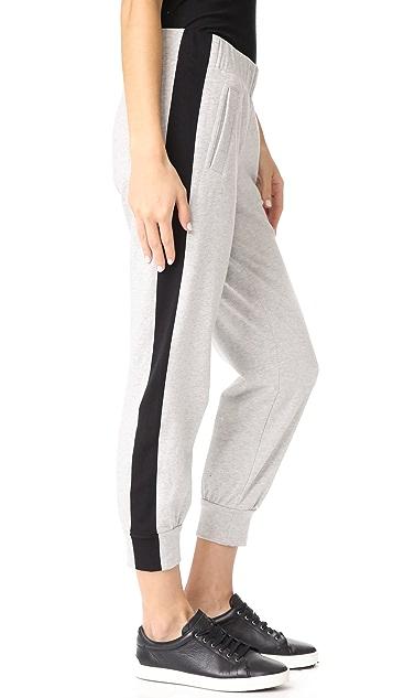 Norma Kamali Side Stripe Jogger Pants
