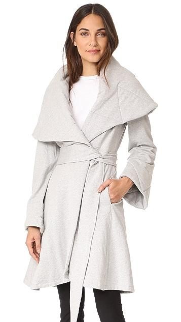 Norma Kamali Shawl Collar Peplum Jacket