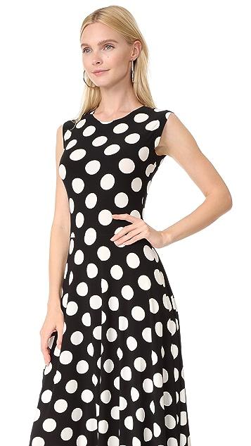 Norma Kamali Sleeveless Flare Dress