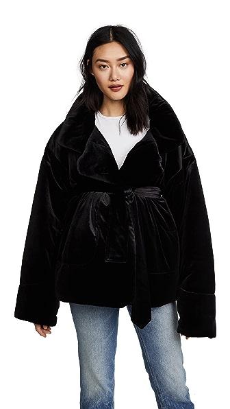 Norma Kamali Sleeping Bag Short Coat at Shopbop
