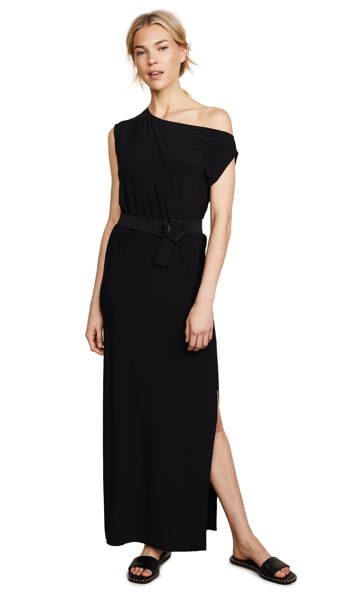 Norma Kamali Drop Shoulder Gown In Black