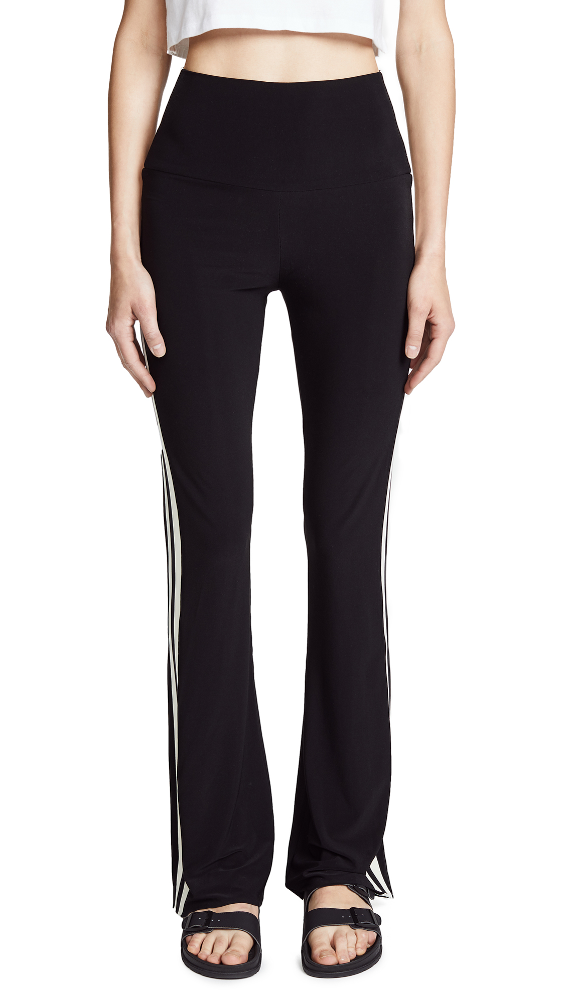 Norma Kamali Side Stripe Boot Pants
