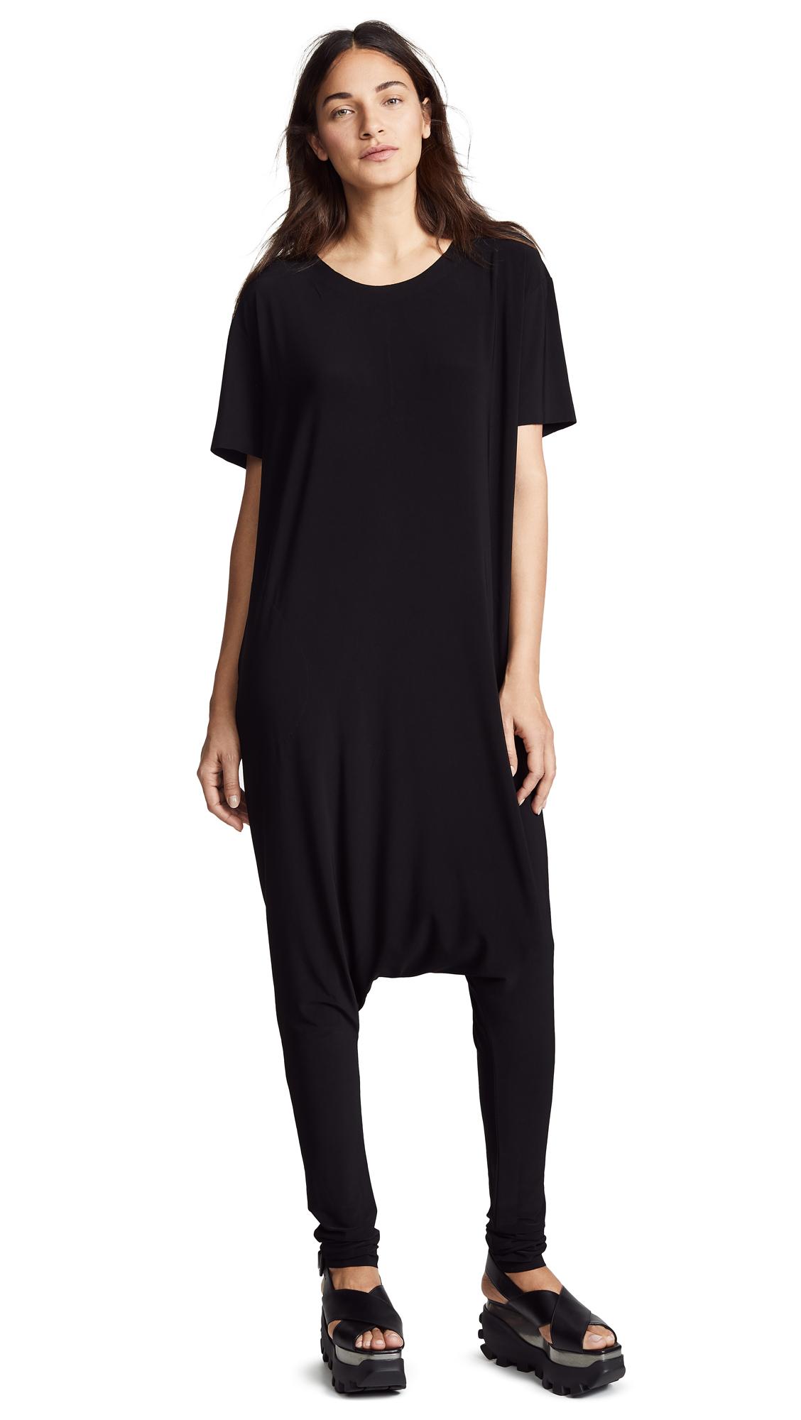 Norma Kamali Short Sleeve Dolman Jumpsuit