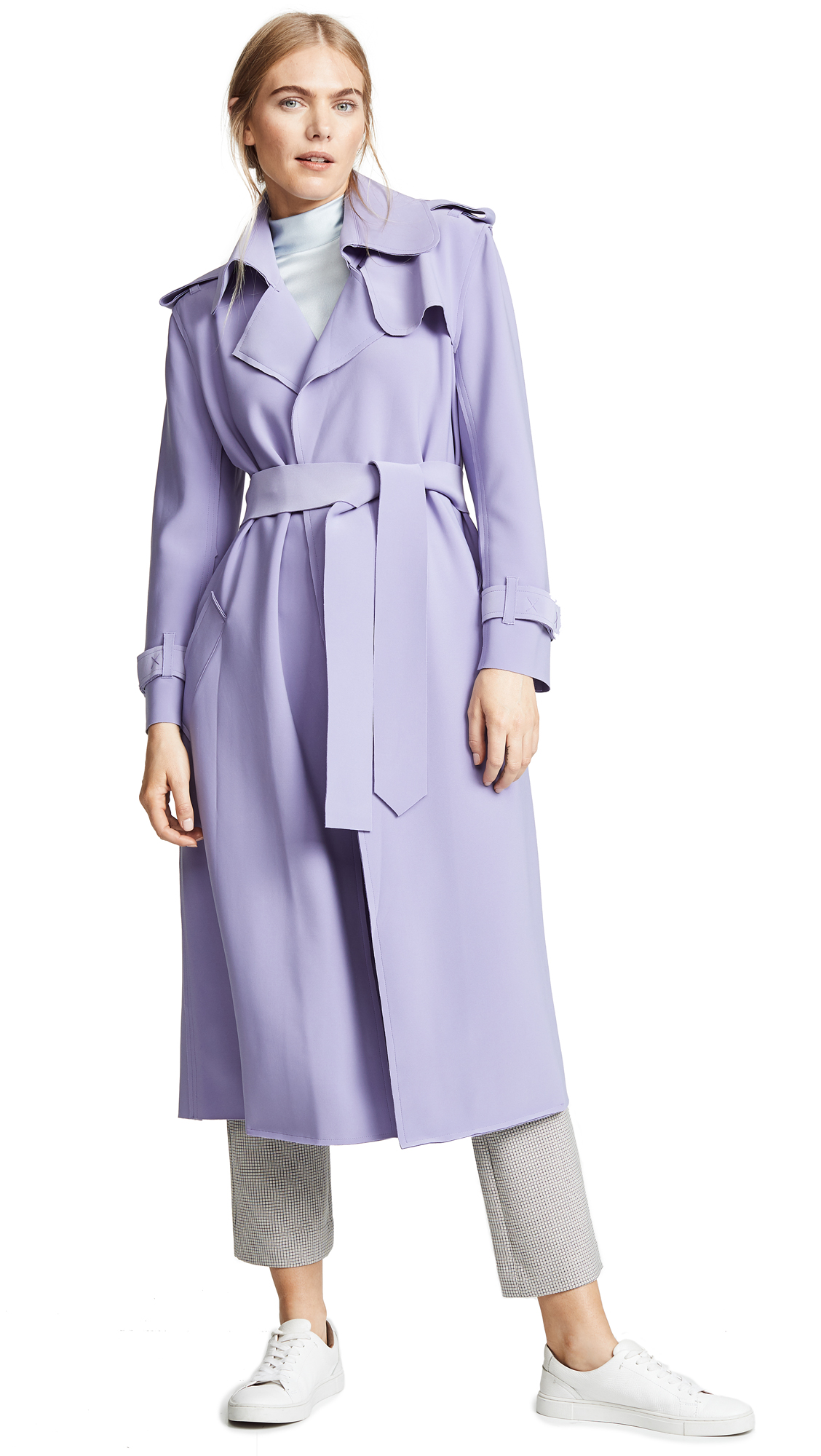 Norma Kamali Double Breasted Trench - Violet