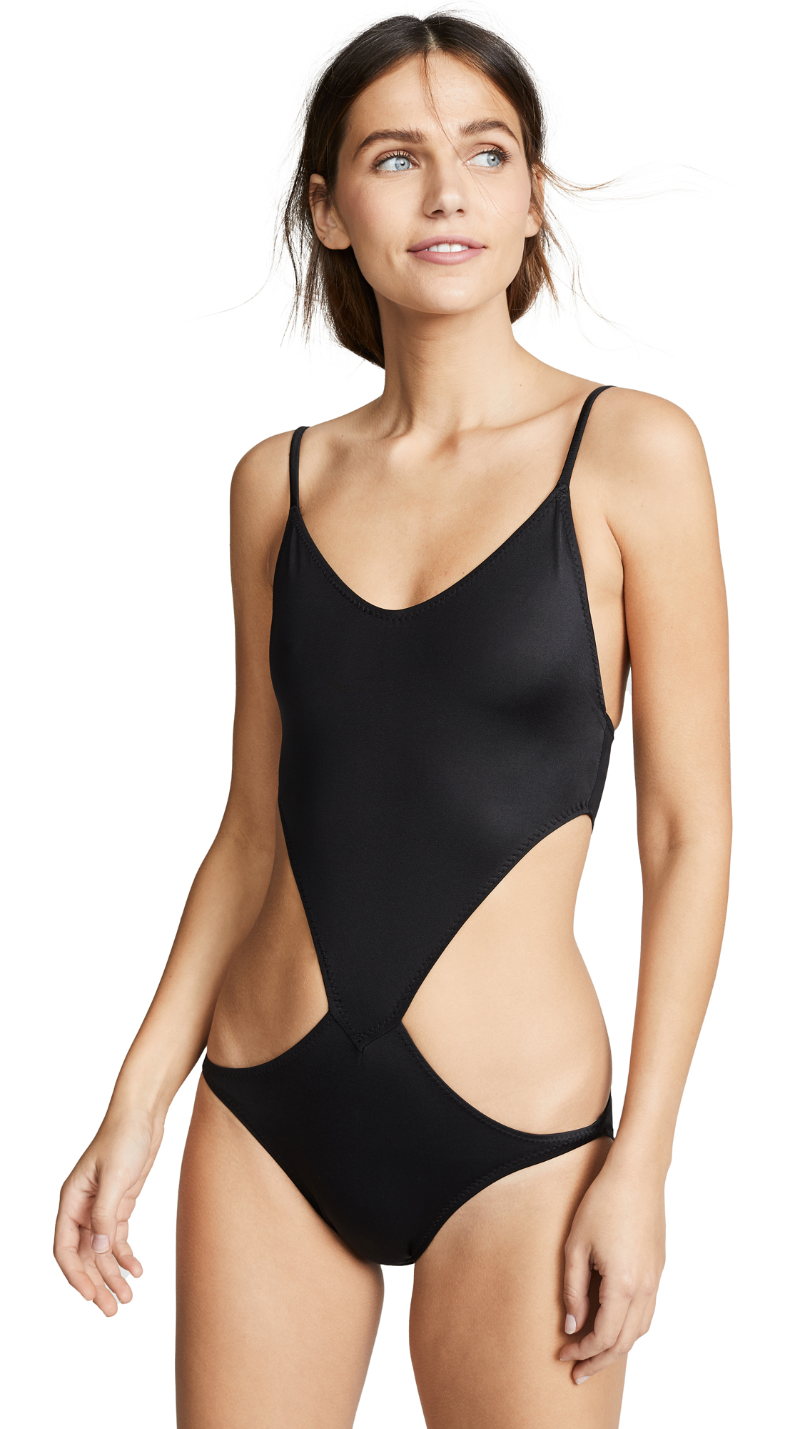 Norma Kamali Slip Chuck One Piece - Black