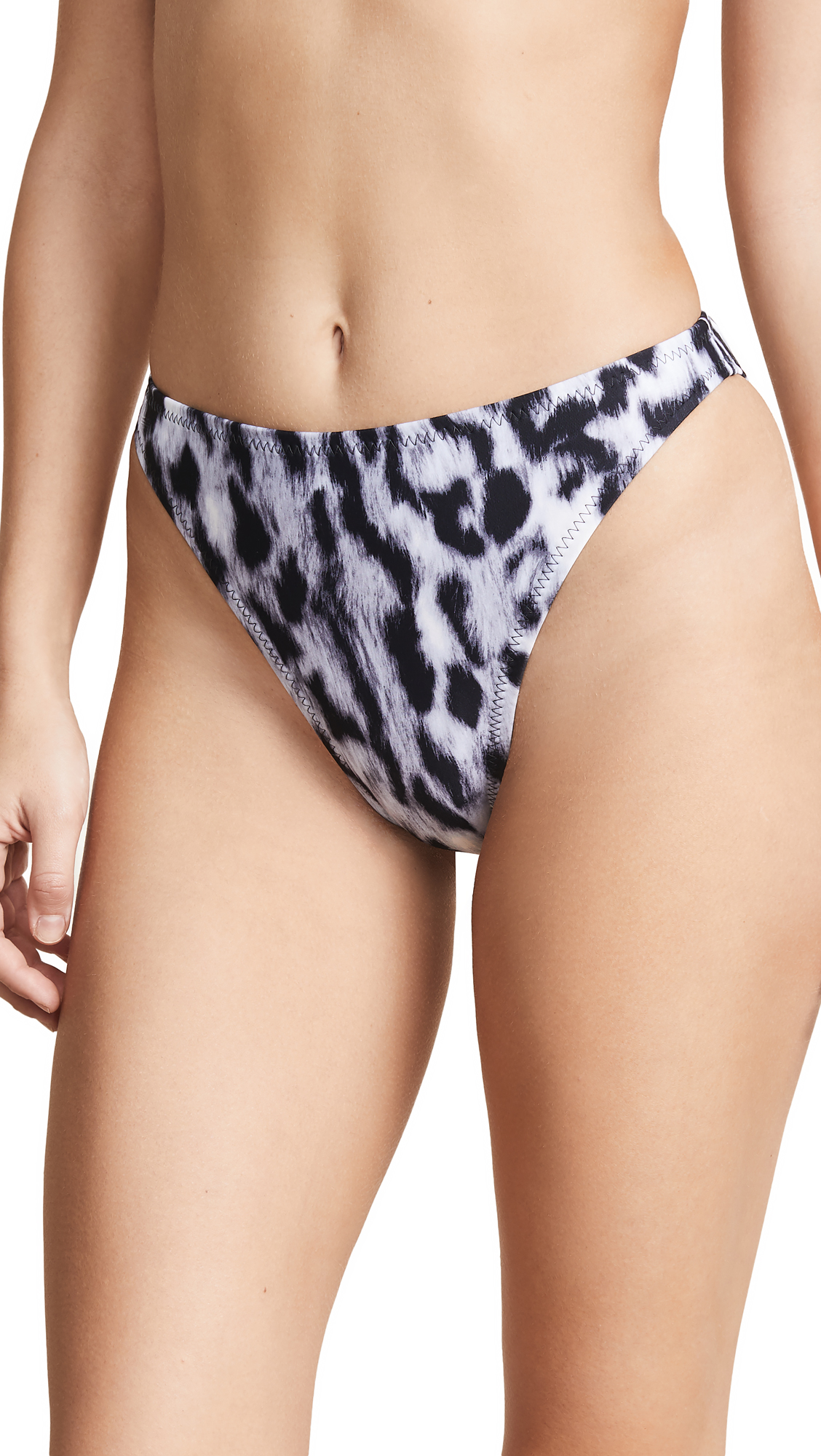 Norma Kamali Luca Bikini Bottoms - Abstract Leopard