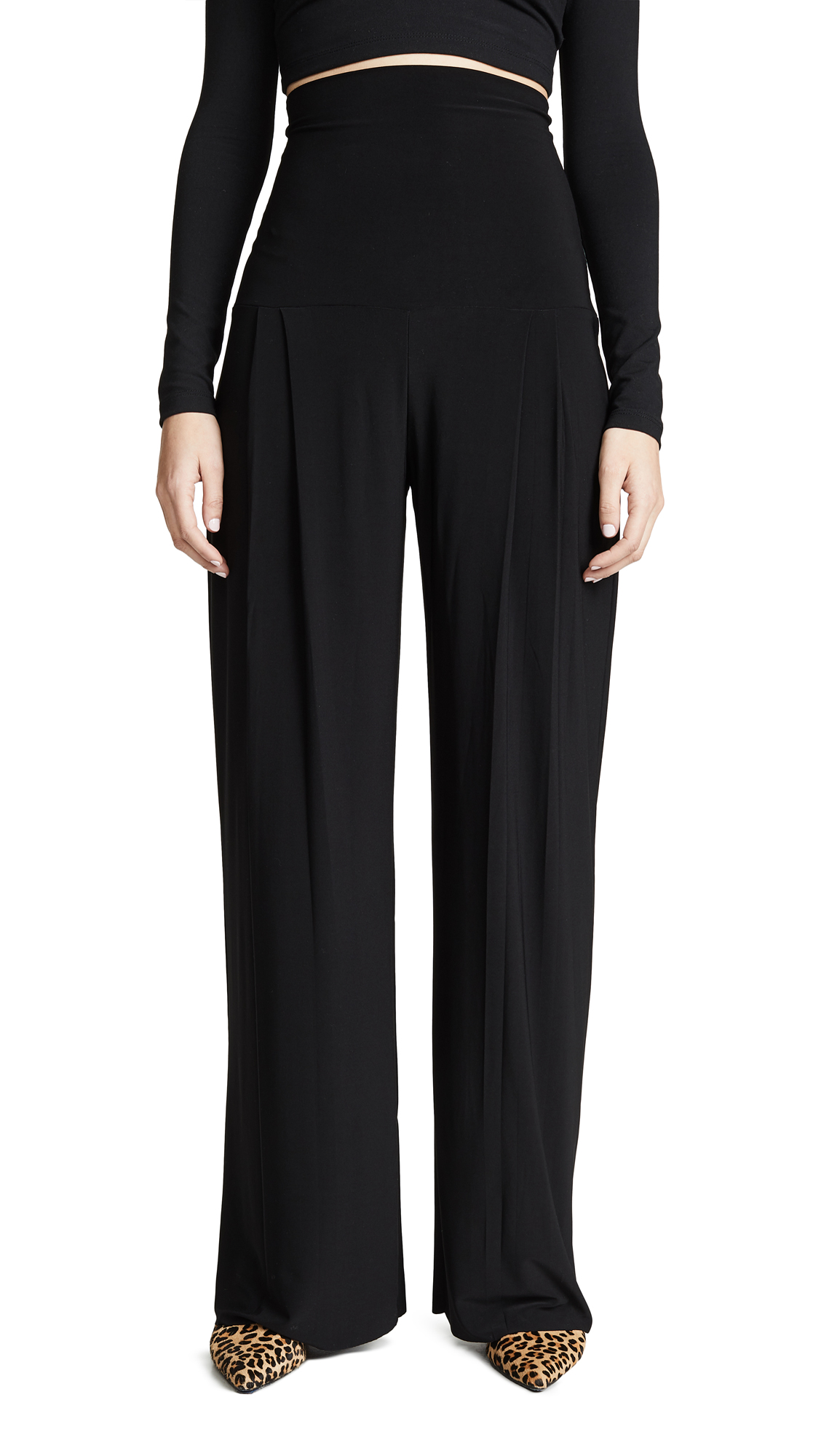 Norma Kamali High Waist Pleat Pants