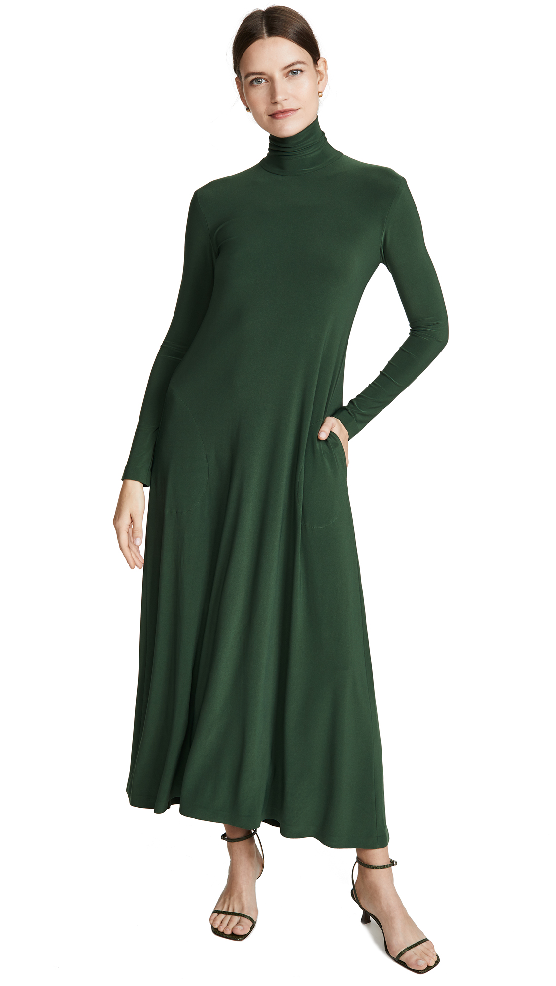 Buy Norma Kamali online - photo of Norma Kamali Turtleneck Swing Dress